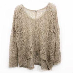 FREE PEOPLE | oversized crochet boho sweater top